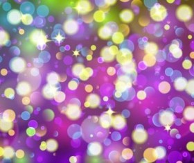 Colorful bokeh effect with star light background vector