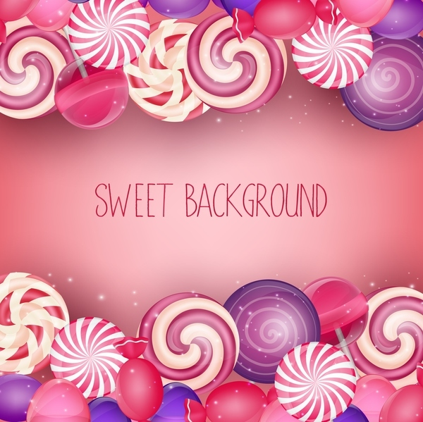 Colorful sweet background vector material 01
