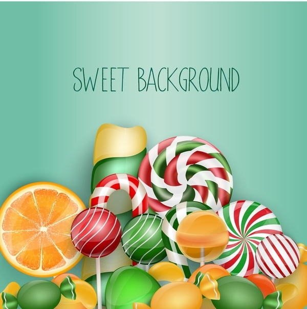Colorful sweet background vector material 02