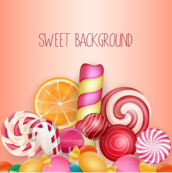Colorful sweet background vector material 03