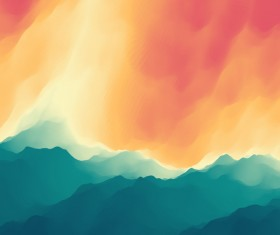 Colorful watercolor blurred background vector 05