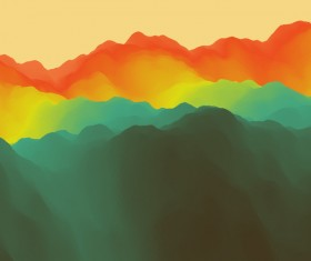 Colorful watercolor blurred background vector 11