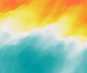Colorful watercolor blurred background vector 12