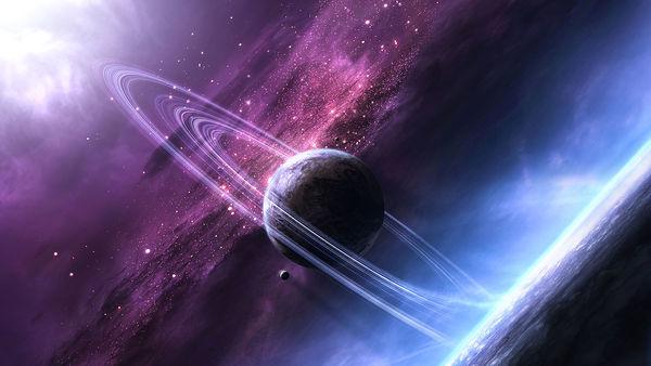 Cosmic sky Stock Photo