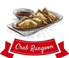Crae Rangoon chinese cuisine vector