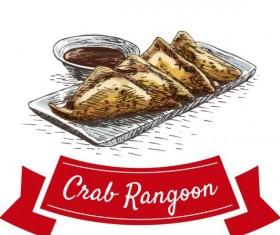 Crae Rangoon chinese cuisine vector