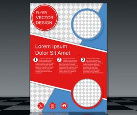 Cricles flyer cover template illustration vector 02