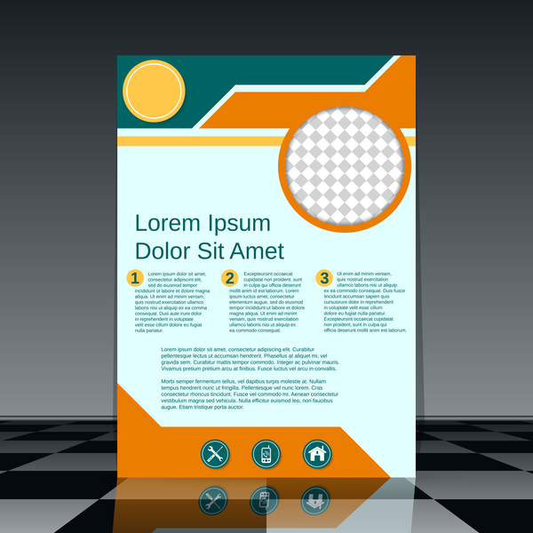 Cricles flyer cover template illustration vector 04