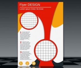 Cricles flyer cover template illustration vector 05