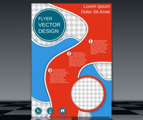 Cricles flyer cover template illustration vector 06