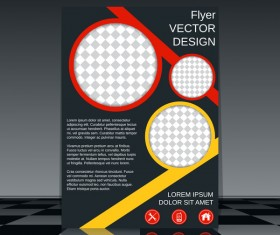 Cricles flyer cover template illustration vector 07