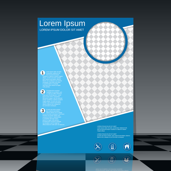 Cricles flyer cover template illustration vector 13