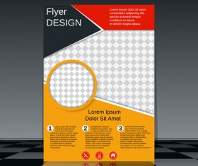 Cricles flyer cover template illustration vector 14