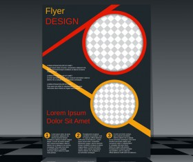 Cricles flyer cover template illustration vector 16