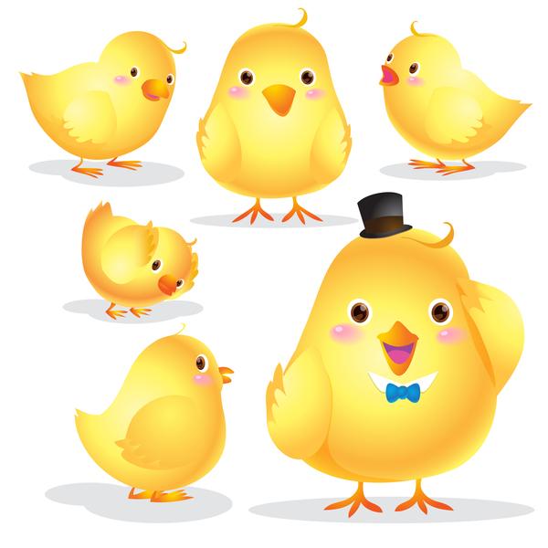 Cute Chick cartoon vector material