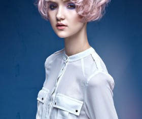 Cute girl with pink hair HD picture 05