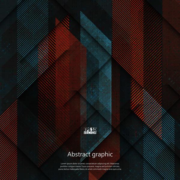 Dark geometric textures pattern vector 01