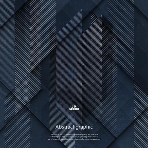Dark geometric textures pattern vector 03