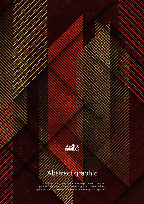 Dark geometric textures pattern vector 04