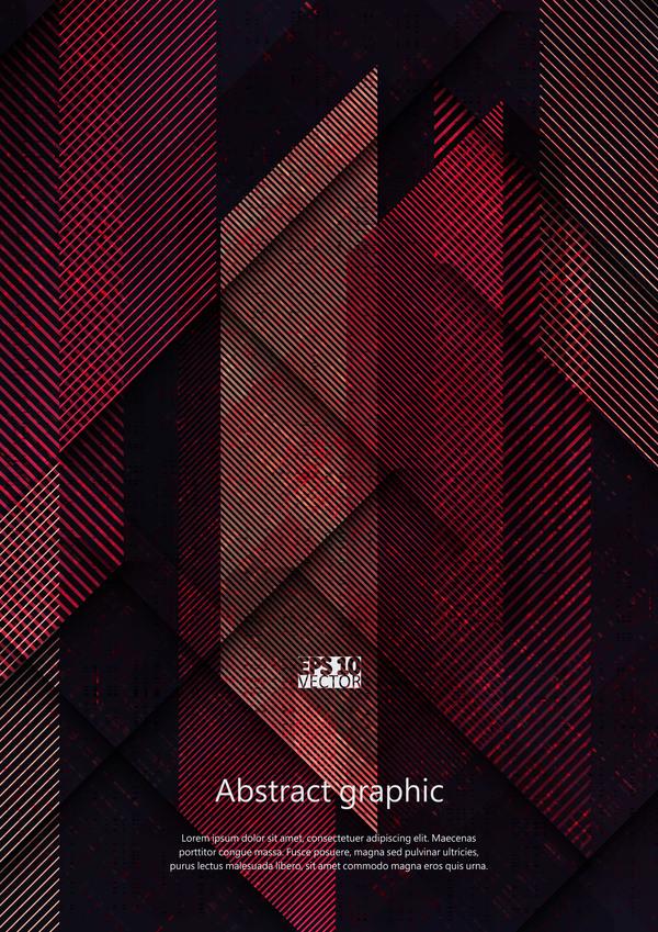 Dark geometric textures pattern vector 05