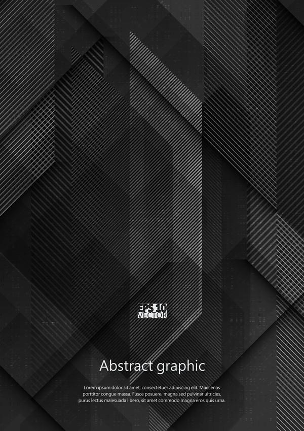 Dark geometric textures pattern vector 06