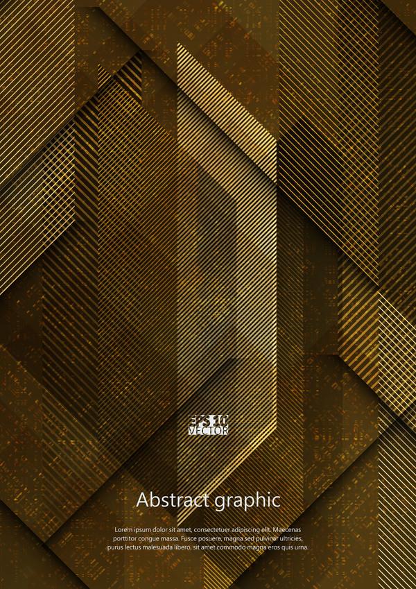 Dark geometric textures pattern vector 07