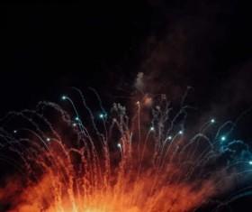 Dazzling fireworks Stock Photo