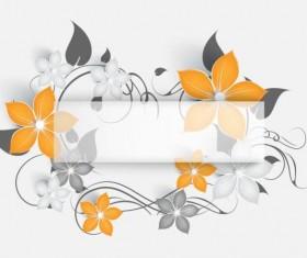 Decorative flower curls design vector background 02