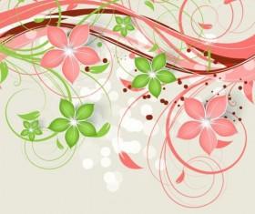 Decorative flower curls design vector background 07