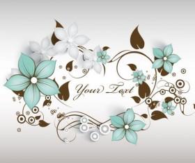 Decorative flower curls design vector background 09