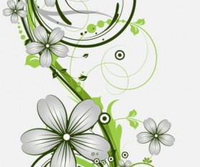 Decorative flower curls design vector background 10