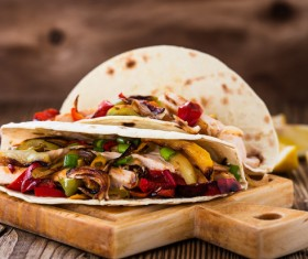 Delicious vegetable tacos Stock Photo