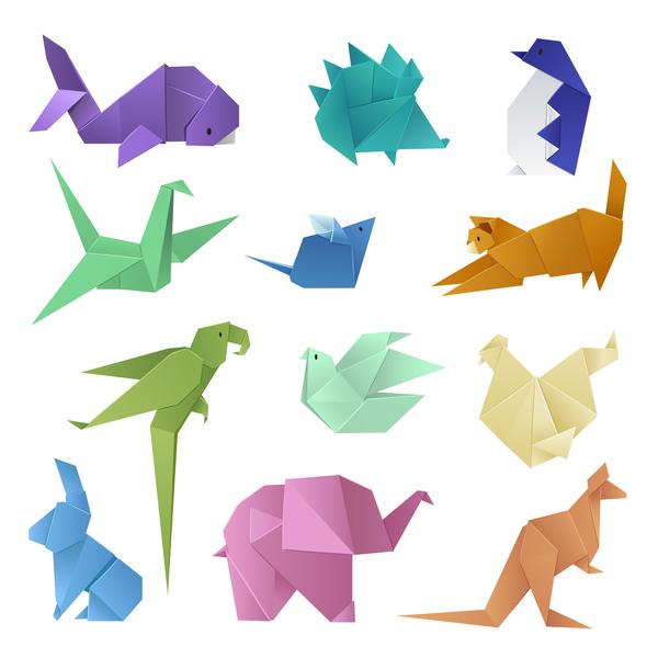 Dinosaur orgami vector design