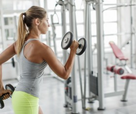 Do strength exercise woman HD picture