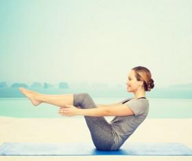 Do yoga woman Stock Photo 01