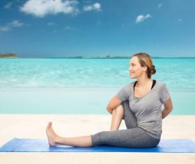 Do yoga woman Stock Photo 02