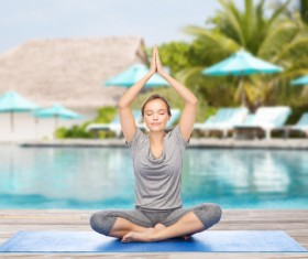 Do yoga woman Stock Photo 03