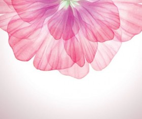 Dream pink flower with vector 01