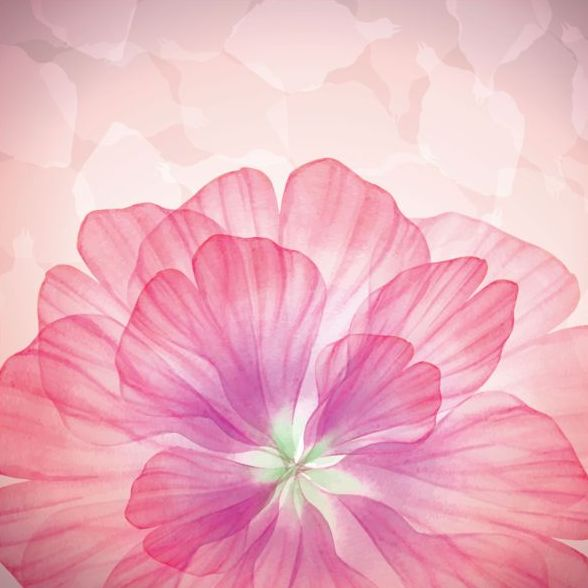 Dream pink flower with vector 02