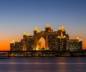 Dubai Palm Island Night Scene HD picture