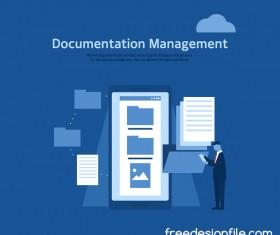 Ducomentation management business background vector