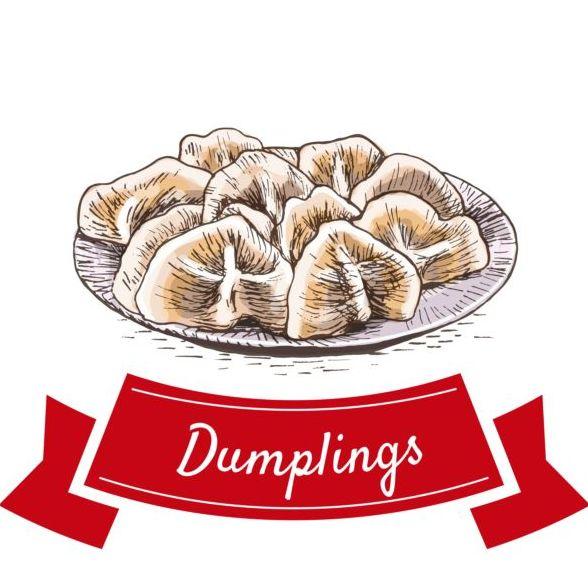 Dumplings vector material