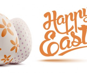 Easter background with decorated eggs vector 01