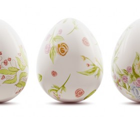 Easter background with decorated eggs vector 02