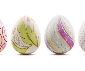Easter background with decorated eggs vector 03