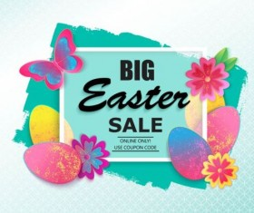 Easter big sale background vectors