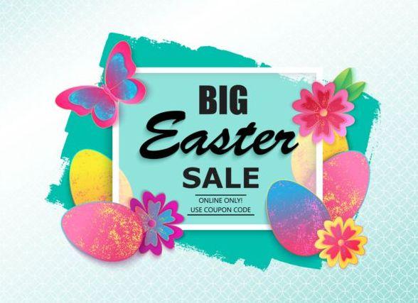 Easter big sale background vectors
