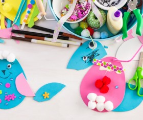 Easter paper craft Stock Photo 03