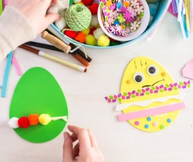 Easter paper craft Stock Photo 05