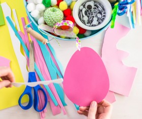 Easter paper craft Stock Photo 09